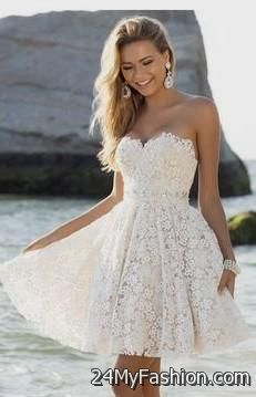 Awesome cute white winter formal dresses 2017-2018