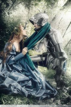 The lady and the knight  Looks like Caleb and Holiday