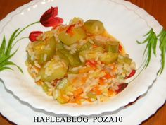 mancare de dovlecei si orez 10 Potato Salad, Cabbage, Potatoes, Vegetables, Ethnic Recipes, Food, Potato, Essen, Cabbages