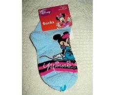 NEW Disney's Minnie Mouse Socks Sz 2-4 FREE SHIPPING $3.00