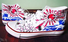 Japan hand painted shoes by Matita's Art