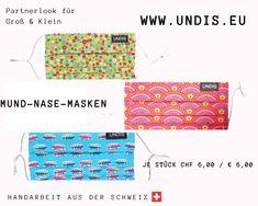 UNDIS www.undis.eu Mund-Nase-Masken Bei UNDIS www.undis.eu gibt es jetzt auch MUND-NASEN-MASKEN im Partnerlook für Erwachsene und Kinder. Je Stück CHF 6,00 / € 6,00 (Versandkosten sind im Preis inkludiert) #undis #maskeauf #behelfsmaske #mundnasenmaske #mundmaske #gesichtsmaske #nähen #kreativ #bunt #maske #corona #virus #maske #mundnasenschutz #deutschland #schweiz #österreich #maske #kinder #eltern #diy #partnerlook #bunt #gesundheit #mundnasemaske Karate Kid, Giraffe, Bags, Fashion, Green Pattern, Red Pattern, Funny Mouth, Funny Underwear, Men's Boxer Briefs