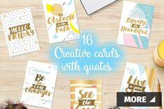 Creative cards with quotes by pa3x on @creativemarket