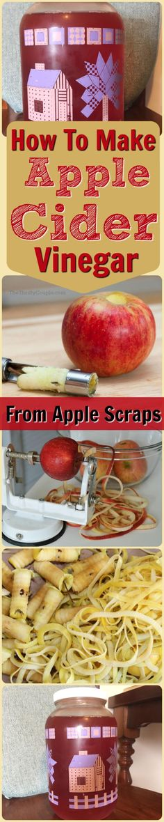 How To Make Apple Cider Vinegar - I never knew that making ACV was so simple! You can make homemade vinegar with apple scraps like the core and peel. It is so easy! I love fermented foods and trying to ferment anything I can and so I am adding this to my