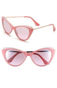 15d742b92b Women s Isaac Mizrahi New York Cat Eye Sunglasses - Blush