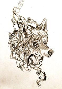 tattoo wolf tumblr - Pesquisa Google