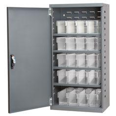 """38""""H x 19.25""""W x 13.25""""D 16 Drawer Storage Cabinet"""