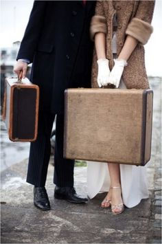Vintage Luggage, Vintage Luggage Trunks | Second Shout Out    http://www.secondshoutout.com/blog/vintage-luggage