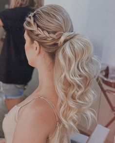 Messy Ponytail Hairstyles, Pretty Hairstyles, Prom Hairstyles, Stylish Ponytail, Sleek Ponytail, Wedding Ponytail, Wedding Hair, Bridal Hair, Dream Wedding
