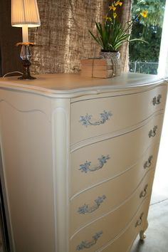 French Provincial Bedroom Furniture Redo this french provincial dresser, night stand and mirror have been