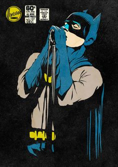 Batman sings the blues.   (Post-Punk Dark Knight: Shadowplay by Butcher Billy)