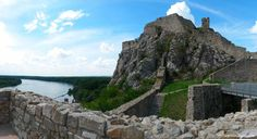 The castle which witnessed the glory and fall of Great Moravia and was blown up by Napoleon's army. Devin castle was later declared to be a national cultura Bratislava, Castle, History, City, Travel, Viajes, Traveling, Historia, City Drawing