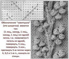 Diy Crafts - View album on Yandex. Baby Knitting Patterns, Knitting Charts, Lace Knitting, Knitting Stitches, Knitting Designs, Crochet Yarn, Stitch Patterns, Crochet Patterns, Bobble Stitch