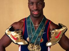 image by Mike Powell / Getty; Michael Johnson's famous shoes were one of Nike's many attempts to ambush Reebok's 1996 Olympic sponsorship.