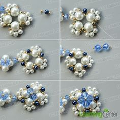 Finish the second pearl bead flower pattern