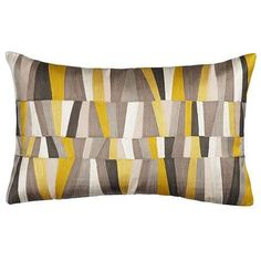 John lewis Geometrics Cushion, Yellow and black for conservatory Cosy Reading Corner, Couch Pillows, Throw Pillows, Geometric Cushions, Grey Lounge, Patchwork Cushion, Book Corners, Pillow Fabric, Diy Carpet