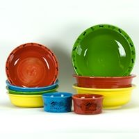 Fiestaware for my pets! :D