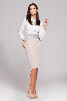 Women Beige Pencil Skirt