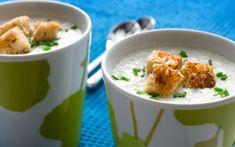 Kylmä jogurtti-artisokkakeitto