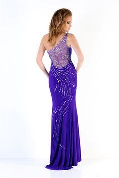 A fabulous royal blue evening gown from Xcite Prom by Impression
