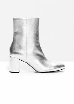 & Other Stories image 1 of Night Fever Boots in Silver