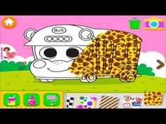 PINKFOG Bus Colorer For Kids Let's Play Educational Games - Разукрашивае...