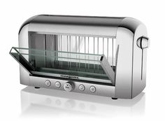 The Magimix Vision Toaster is the very first of its kind to boast clear, easy to clean, glass windows through which you can watch your bread get browner by the second    Read more at Design Milk: http://design-milk.com/see-through-vision-toaster-from-magimix/#ixzz1nVqfWXt6