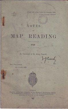 pinterest.com/fra411 - Notes on Map reading 1925