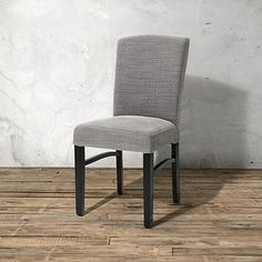 Capri Upholstered Dining Side Chair in Canton Grey