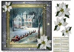Dashing Through The Snow Topper Decoupage on Craftsuprint - Add To Basket!