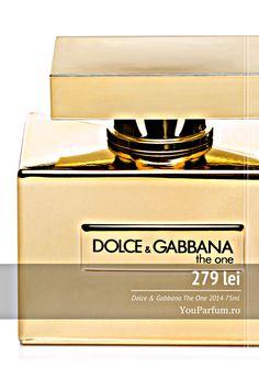 Dolce & Gabbana The One 2014 este un parfum oriental proaspăt pentru fiecare femeie care dorește o schimbare. Lasă-ți simțurile  răsfațate de esențe unice de fructe din întreaga lume. Devii irezistibilă și seducătoare. Dolce & Gabanna The One 2014 vine într-o sticlă de culoarea aurului. The One, Decorative Boxes, Wine, Fragrance, Decorative Storage Boxes
