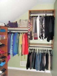 Hidden closet storage sloped ceiling ikea hack closet for California closets reno