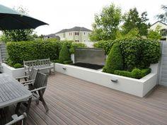 tuin inspiratie - strak terras en weinig onderhoud.