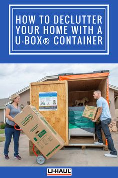 When was the last time you decluttered your home? Don't procrastinate any longer, rent a U-Box® Container and get on your way to a more organized home today. Click through to start decluttering your home today. Moving Containers, Storage Containers, Declutter Your Home, Organizing Your Home, Household Organization, Organization Hacks, Shoe Storage, Storage Chest, Decluttering