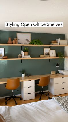 Small Home Offices, Home Office Space, Home Office Design, Home Office Decor, House Design, Dyi Office Desk, Office Room Ideas, Office Storage Ideas, Ikea Office Hack