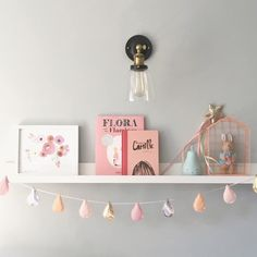I was asked by a customer to create this raindrop garland in peach, pink, gold…