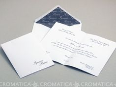 Invitación de boda - CLÁSICA ELEGANTE 4 con forro