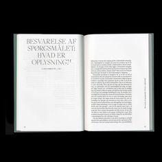 """Spread from """"Immanuel Kant—Oplysning, historie, fremskridt."""" Published by Forlaget Slagmark"""