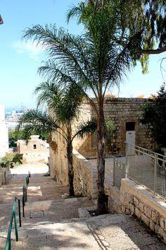 Stairs leading to German Colony, #Haifa. #Israel