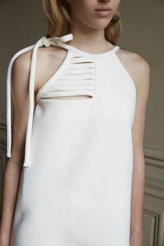Chic Simplicity - minimal white top; fashion details // Christopher Esber Spring 2016