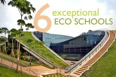 Singapore's green-roofed art school at Nanyang Technological University by CPG Consultants Read more: 6 Exceptional Eco Schools Top Six Green Schools – Inhabitat - Sustainable Design Innovation, Eco Architecture, Green Building Architecture Durable, Architecture Cool, Sustainable Architecture, Sustainable Design, Landscape Architecture, Landscape Design, Singapore Architecture, Sustainable Schools, Innovative Architecture