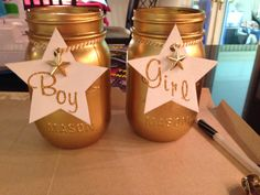 Name suggestion jars - twinkle twinkle little star baby shower