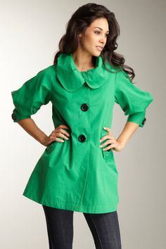 On sale for $29 -what!? It of course sold out too fast for me to get one. boo. #jacket #coat #green