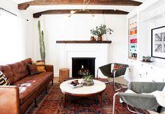 Love this modern southwestern room.