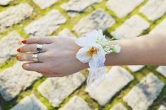 Ivory wrist corsage, Flower wrist corsage, Bridesmaids set, Bridal wrist corsage, Romantic wedding, Flower girl braceletes, Flower bracelet Wrist Corsage, Flower Bracelet, Bridesmaids, Silver Rings, Ivory, Wedding Rings, Romantic, Engagement Rings, Bridal