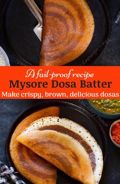 North Indian Recipes, South Indian Food, Indian Food Recipes, Dosa Batter Recipe, Dosa Recipe, Mysore, Best Vegetarian Recipes, Vegetarian Food, Healthy Food Habits