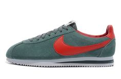 Womens Nike Classic Cortez Vintage Suede Trainers Grey/Red