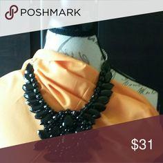 Rhinestone necklace Black beaded rhinestone Jewelry Necklaces