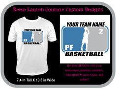 PERSONALIZE Your School/Team Basketball/Mascot - T-shirts by ReeseLaurenCouture on Etsy