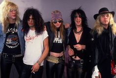 Guns N' Roses - Guns N' Roses, one of the best-selling hard rock bands of all time, will reunite key members including bassist Duff McKagan, left, and guitarist Slash, second from left, with front man Axl Rose (center) to play Coachella in mid-April. With summer festival season already boasting a resurgence in slots for veteran rockers, we take a look at the hard rockin' bands of the '80s then and now.